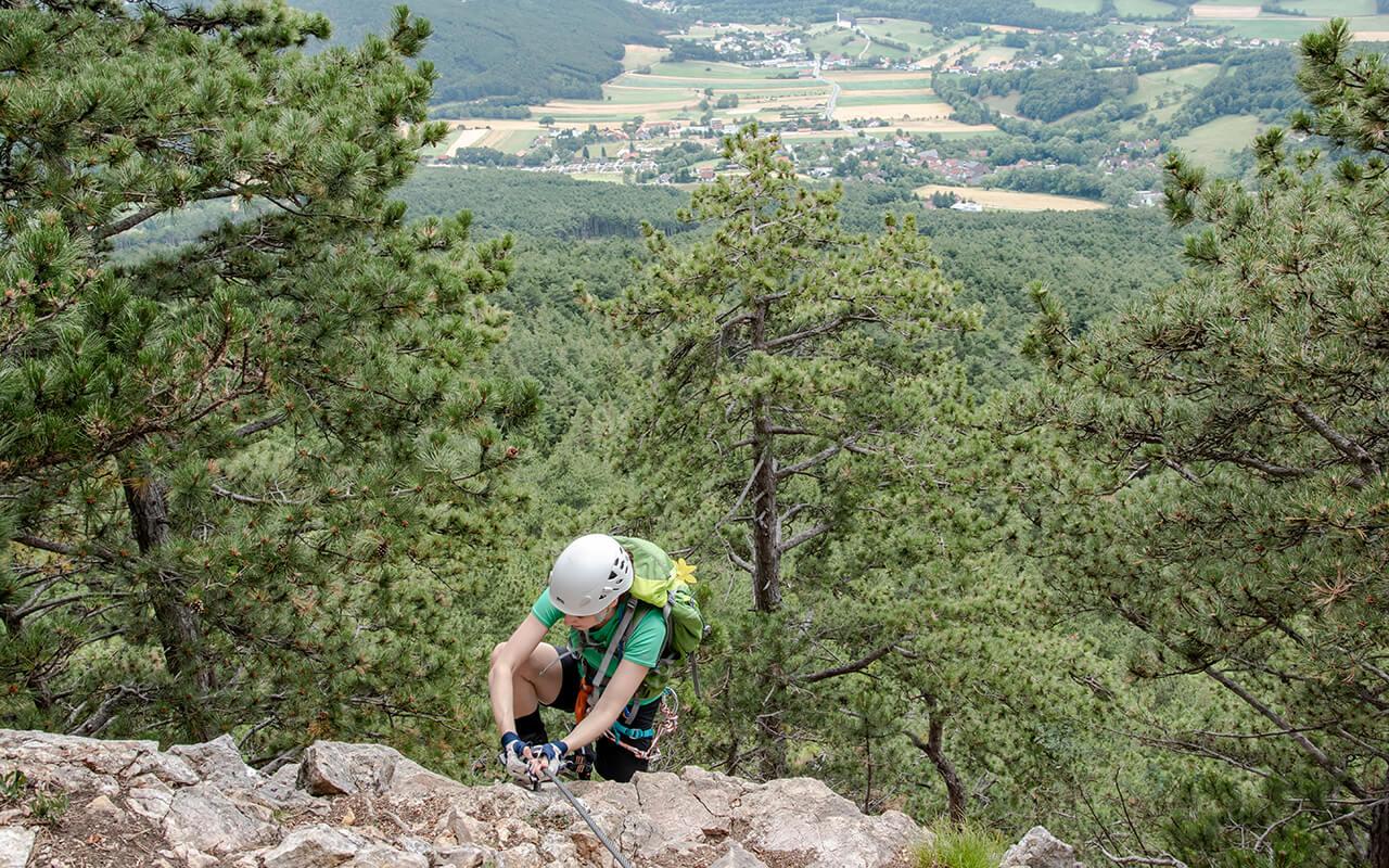 Gebirgsvereinssteig Klettern