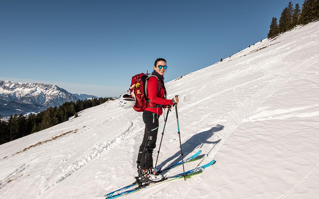 Aufstieg Schlenken Skitour
