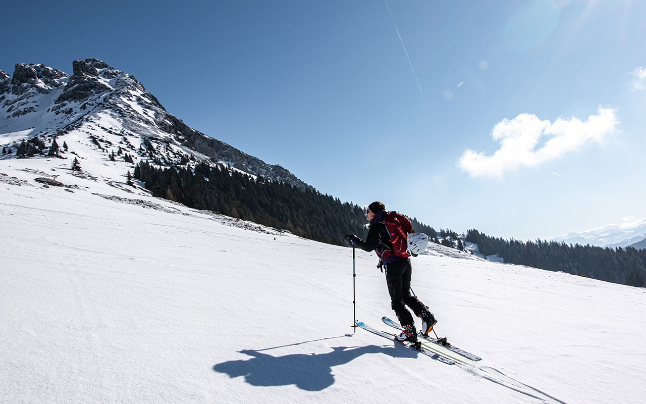 Aufstieg Taghaube Skitouren