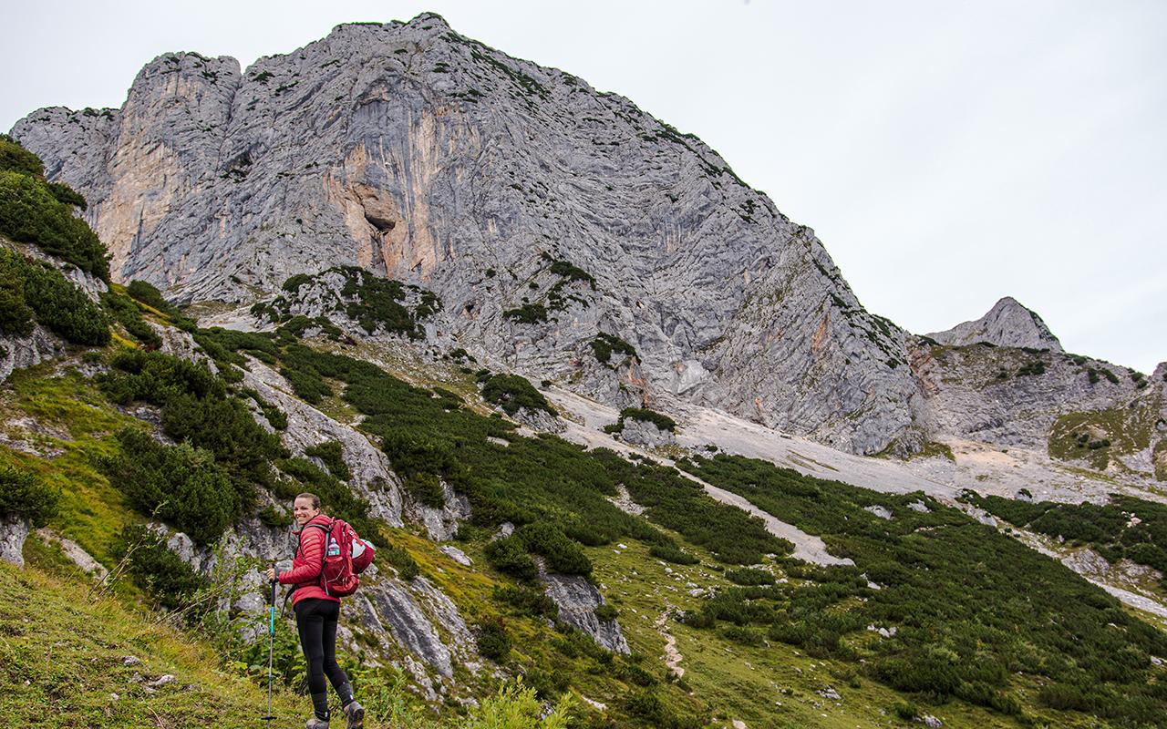 Aufstieg zum Hochthron Klettersteig