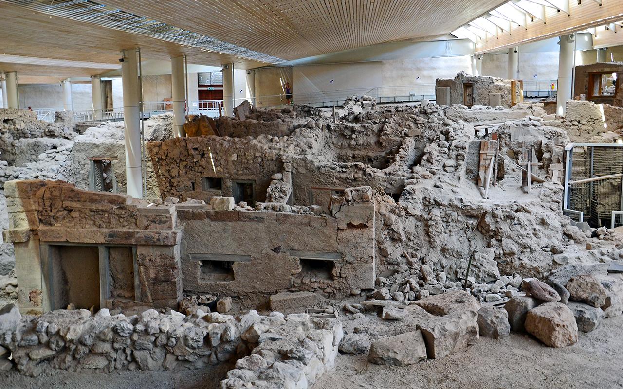 Ausgrabungen in Akrotiri