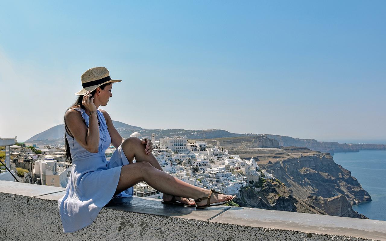 Blick auf Fira Santorini
