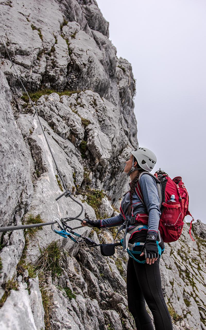 Hochthron Klettersteig am Seil