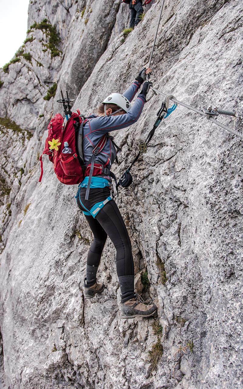 Hochthron Klettersteig im Fels
