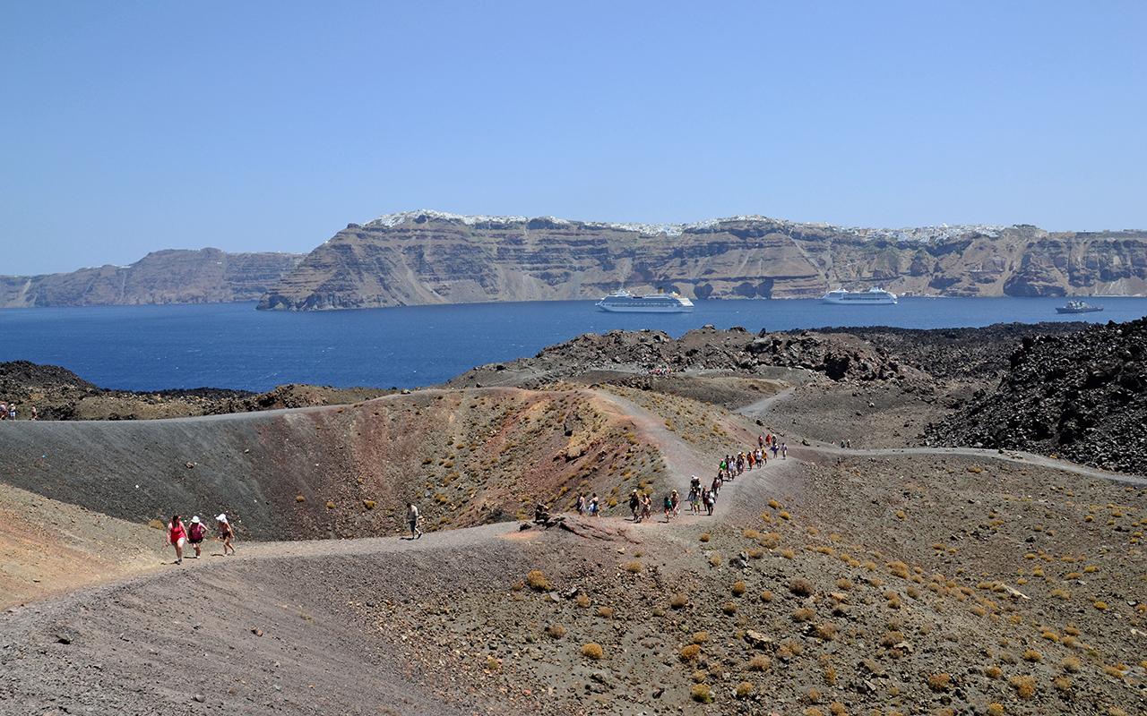 Nea Kameni Vulkaninsel