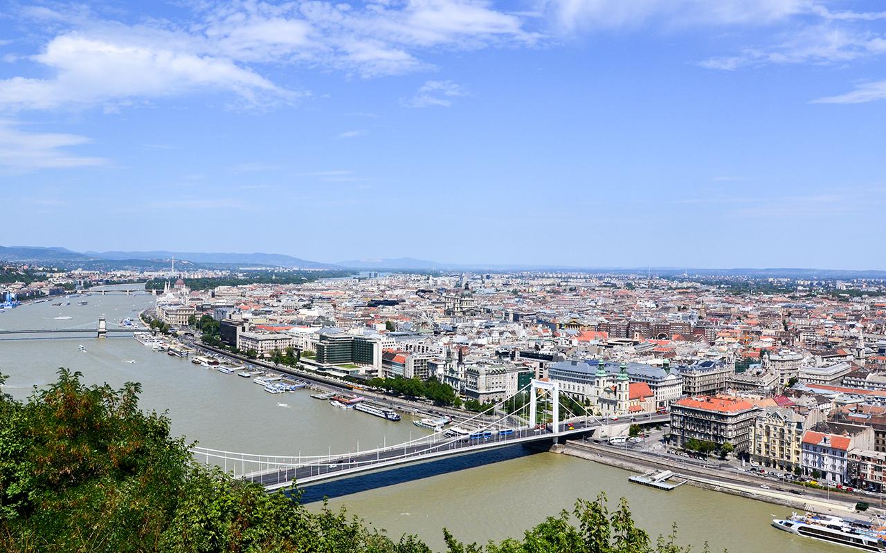 Aussicht-Budapest-Gellertberg