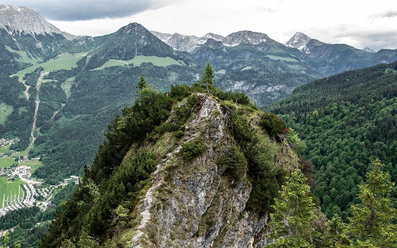 Grünstein Klettersteig Fels