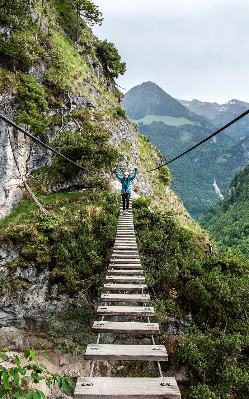 Grünstein Klettersteig Hängebrücke