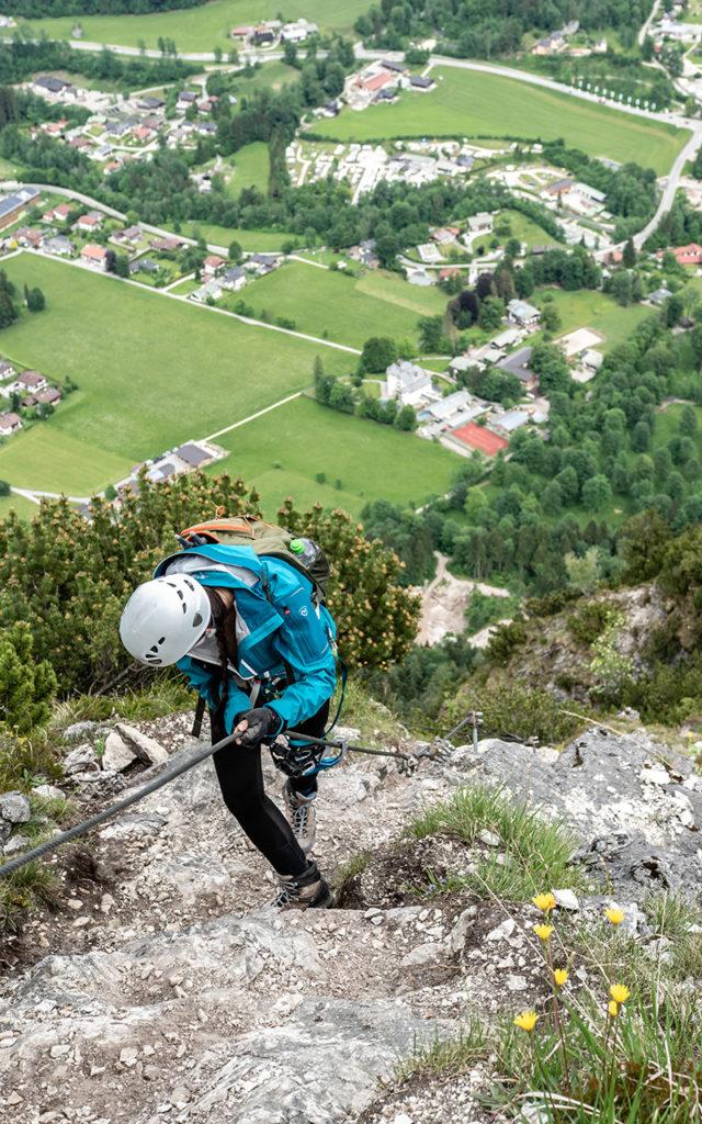 Grünstein Klettersteig Seil
