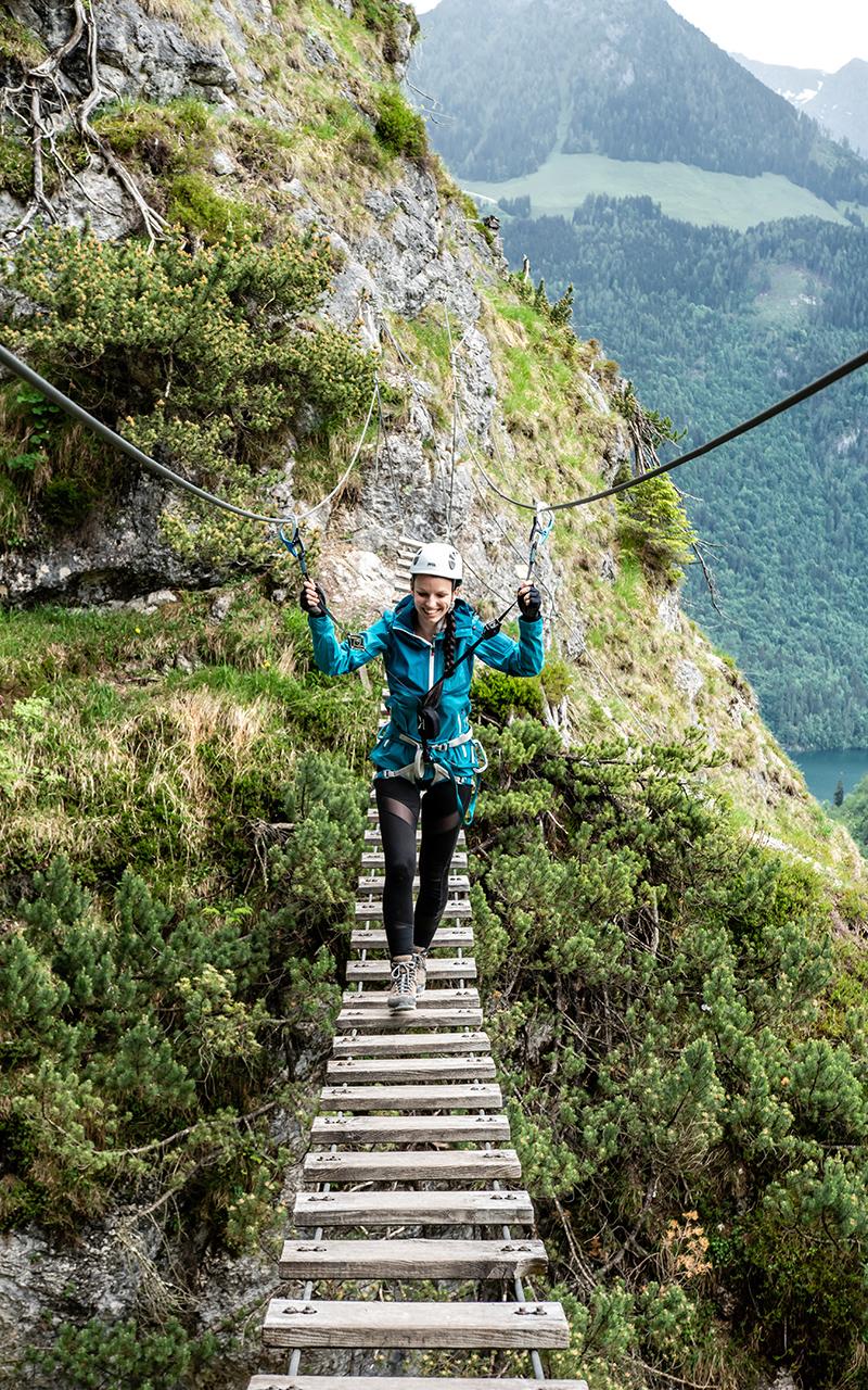 Hängebrücke Grünstein Klettersteig